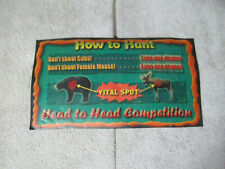 """original Trophy Hunting Bear Moose Instructions 11-6"""" sign marquee cF89"""