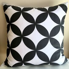 Handmade BLACK AND WHITE CIRCLES 100% Cotton Cushion Cover Various sizes