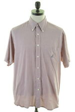 NAUTICA Mens Shirt Large Multi Tattersall Check Cotton Loose Fit