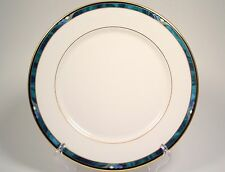 Lenox Kelly Dinner Plate (s) Green Black Purple Band Gold USA Debut Collection