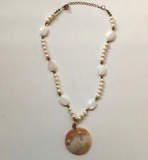 Beautiful Sterling Silver 14K Gold beads Pearl Necklace