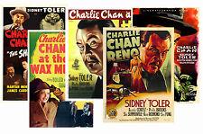 CHARLIE CHAN (SIDNEY TOLER SERIES) - SET OF 5 - A4 POSTER PRINTS # 1