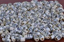 "60 PCS BROWN STRIPE BUFFALO BONE TUBE BEADING BEADS 1/2"" #T-1630"