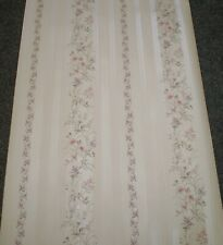 Vintage Satin Pink, White & Purple Stripe Floral Off White by Coloroll FL 4928