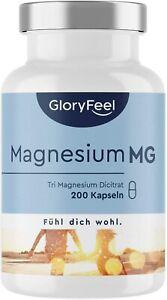 Magnesium Hochdosiert Kapseln - Vergleichssieger MG 2020* - 2400mg Premium vegan
