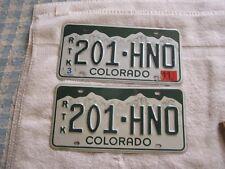 Colorado White Mountains  License Plates Set  2011 Sticker RTK