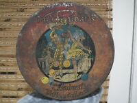 LARGE VINTAGE 30s MacINTOSH CARNIVAL TOFFEE DE LUXE TIN CANADA