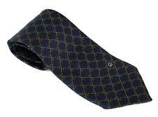 Authentic GUCCI Dark Navy 100% Seta Silk Soie Necktie Made in Italy Used
