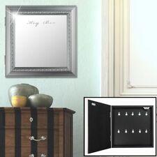 10x hook key box box hall mirror front antique cabinet storage shelf silver new