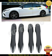 4PCS ABS Carbon fiber Car Side Door Handle Cover Trim For TOYOTA CAMRY 2018 2019
