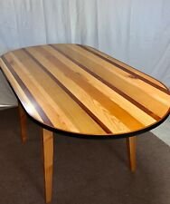 "Custom dining table. 3'Wx6'Lx30""H. Hardwood top, Douglas fir legs. Seller built"