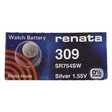 Renata Watch Battery Swiss Made Renata 309 or SR754SW or 754 Or AG5 Fast Shiping
