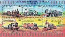 Timbres Trains Guinée 2150BV/CA ** année 2001 lot 1109 - cote : 25,00 euros