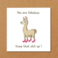Funny Birthday card for girl friend daughter female glam glamorous shoes sexy