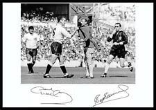 Tottenham Hotspur v Leeds United 1966 Dave Mackay Billy Bremner signed Re-print