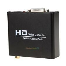 HDMI to DVI Coaxial DVI-I With Audio Converter Adapter 1080P HDTV HD Projector