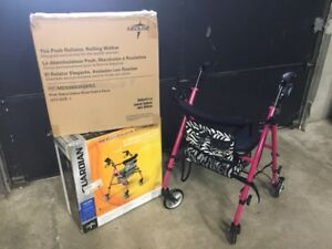 Posh Rollator Walker - NEW - Hot Pink and Zebra - Sale Special $75.99