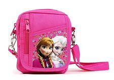 "6"" Disney Frozen Elsa Anna Camera Messenger Shoulder Bag Purse Hot Pink"
