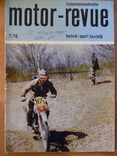 Tschechoslowakische MOTOR REVUE  7 - 1976 * Moto Cross-EM CZ Geländesport Skoda