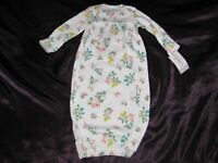 Carters Floral Flower Baby Girl Cotton Sleep Gown Newborn 0-3 NEW NWT
