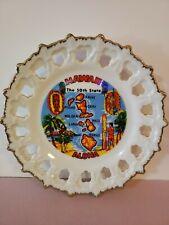 "Vintage Hawaii Aloha Collectors Souvenir Decorative Plate 7.5"""