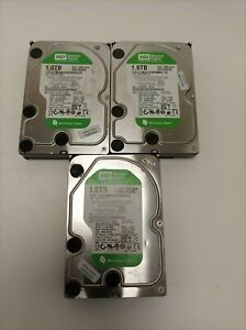 """Job Lot 3x WD Western Digital WD10EADS -00L5B1 Hard Drive 1TB SATA 3.5"""" HDD"""