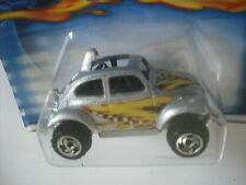 2001 HOT WHEELS VW BAJA BUG SILVER with GRAPHICS # 174 METAL BASE