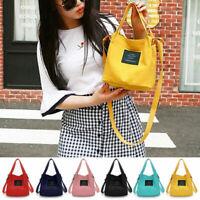 New Womens Canvas Black Handbag Shoulder Messenger Bag Satchel Tote Purse Bags