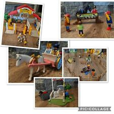 PLAYMOBIL 4190 Pony Ranch Horse Farm Horse Stable & More Very Good Discontinued