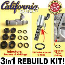 TOYOTA 1JZ VVTi JZX100 110 Fuel Injector Rebuild Kit VITON O-Ring Seal Insulator