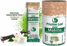 Organic Matcha Green Tea Powder | Vanilla Flavored | No Sugar | 12 Single Packs