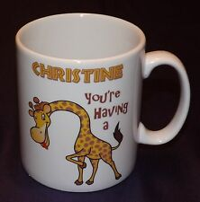 PERSONALISED FUNNY YOU'RE HAVING A GIRAFFE MUG GIFT - ANY NAME BIRTHDAY XMAS