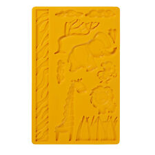 Wilton # 2558 Jungle Animals Fondant Gum Paste Silicone Fun Kids Decorating Mold