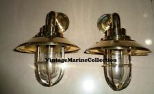 2new brass small  nautical passage way light with cap set of  2 pcs