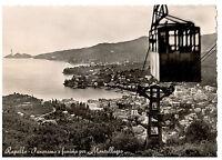 Cartolina Rapallo Panorama e funivia Montallegro 1952 (ar220)