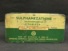 OLD VINTAGE UNIQUE SULPHAMEZATHINE PHARMACY RARE  MEDICINE IRON BOX
