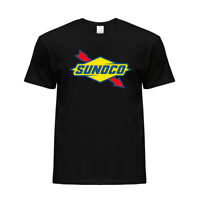 New Sunoco Gas Station Logo Graphic Printed Tee Crew Neck Cotton Mens T-shirt