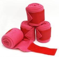 Showman PINK PONY Size Set of 4 Fleece Polo/Leg Wraps!! NEW HORSE TACK!!