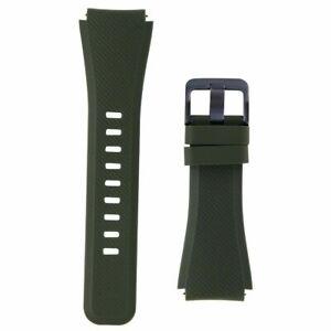 GENUINE Samsung Gear S3 Silicone Replacement Band (22mm) Green Khaki - ET-YSU76