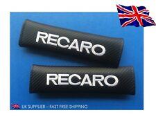 2x Recaro RICAMATO-fibra di carbonio-Cintura di sicurezza spalla Cover Pads-UK STOCK