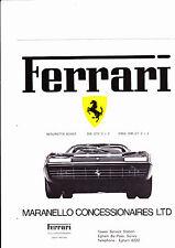 FOLLETO de la gama Ferrari-incluye Boxer, 365 GT4 2+2, & 308 GT4 - 1974-como Nuevo