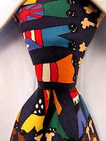 Men's The Save Children Blue Silk Tie Made in Korea 22589