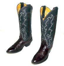 Size 4 C Cowboy Boots Burgundy Wine Steel Grey Nocona Brand Indie Country Shoes