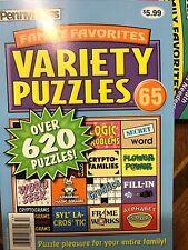 Penny Press Family Favorites Variety Puzzles #65 NEW 620+ Logic Crypto Crostics