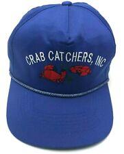 CRAB CATCHERS blue adjustable cap / hat - 100% cotton
