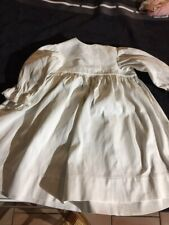 ANTIQUE cotton dress big for FRENCH doll Jumeau Steiner Bru antique lace