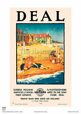 DEAL KENT RETRO ART VINTAGE RAILWAY TRAVEL POSTER ADVERTISING RAIL HOLIDAY