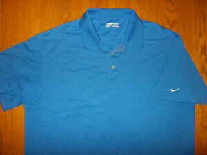 NIKE GOLF FIT DRY SHORT SLEEVE ROYAL BLUE POLO SHIRT MENS XL EXCELLENT CONDITION