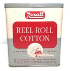 Rexall  Drug Store Tin Reel Roll Cotton Package 3 oz W2299 Vintage