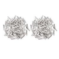 Paquet de 200 pinces à cheveux plates en métal de fer broches dents dents
